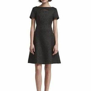 DKNY  6 Black Metallic  Fit Flare  Dress L7-10